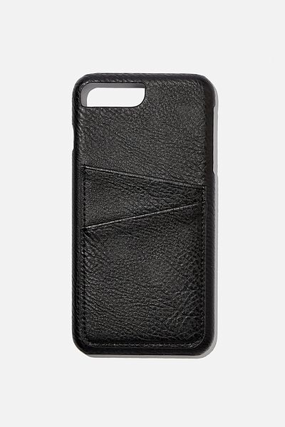 The Cardholder Phone Cover 6,7,8 Plus, BLACK PEBBLE
