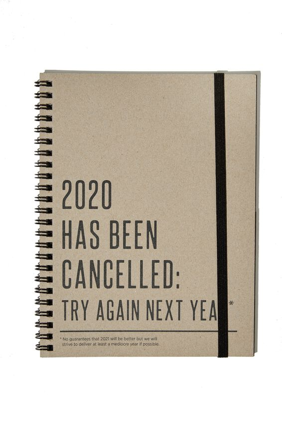 A5 Limited Edition Spinout Notebook, 2020 IS CANCELLED