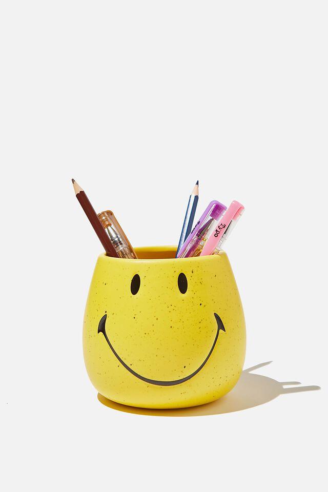 Licensed Pen Holder, LCN SMI SMILEY YELLOW