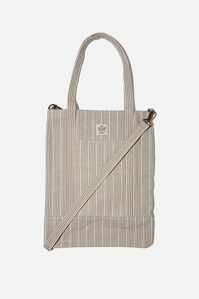 Book Tote Bag, BRAD STRIPE