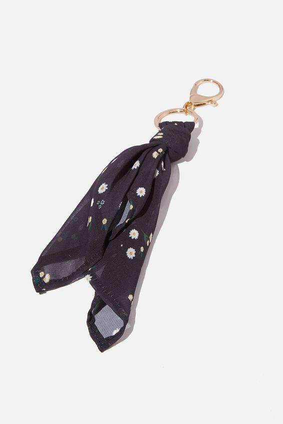Bag Charm, SCARF DAISY DITSY