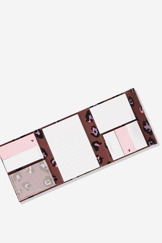 Pocket Sticky Note Set, LEOPARD