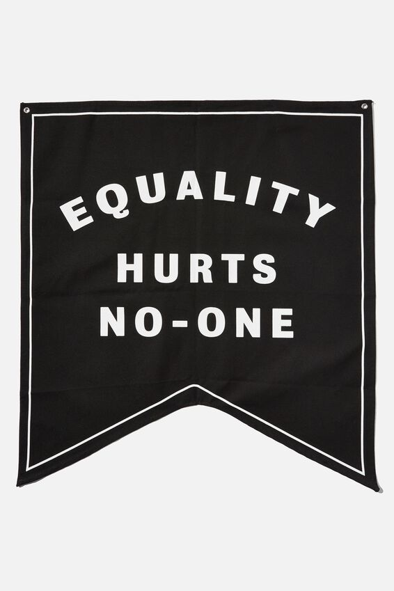 Large Pennant Wall Flag, EQUALITY HURTS NO ONE