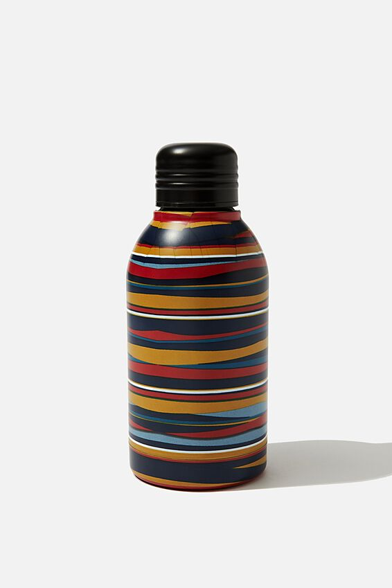 Mini Metal Drink Bottle, POP COLOUR STRIPES