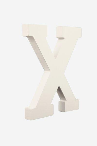Letterpress Wooden Letter, WHITE X