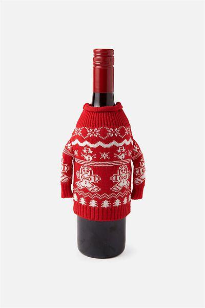 Wine Sweater Bag, GINGERBREAD!