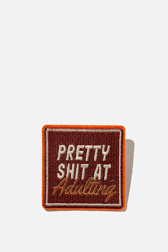 Fabric Badge, S### AT ADULTING!