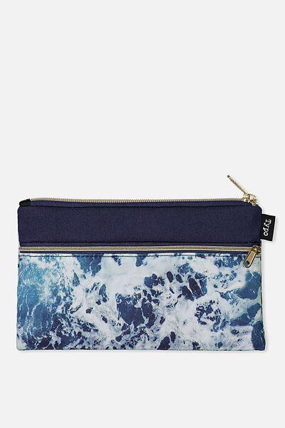 Archer Pencil Case, NAVY WATER