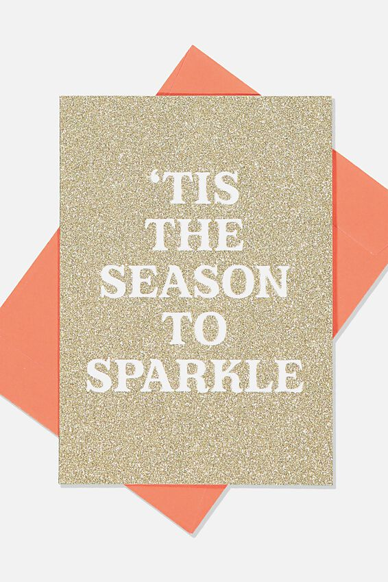 Christmas Card 2019, GLITTER TIS THE SEASON