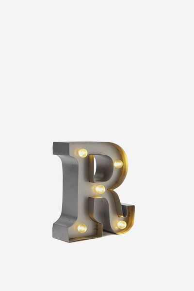"Mini Marquee Letter Lights 3.9"", SILVER R"