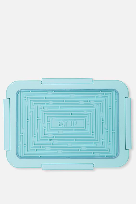 Maze Lid Food Container, BLUE