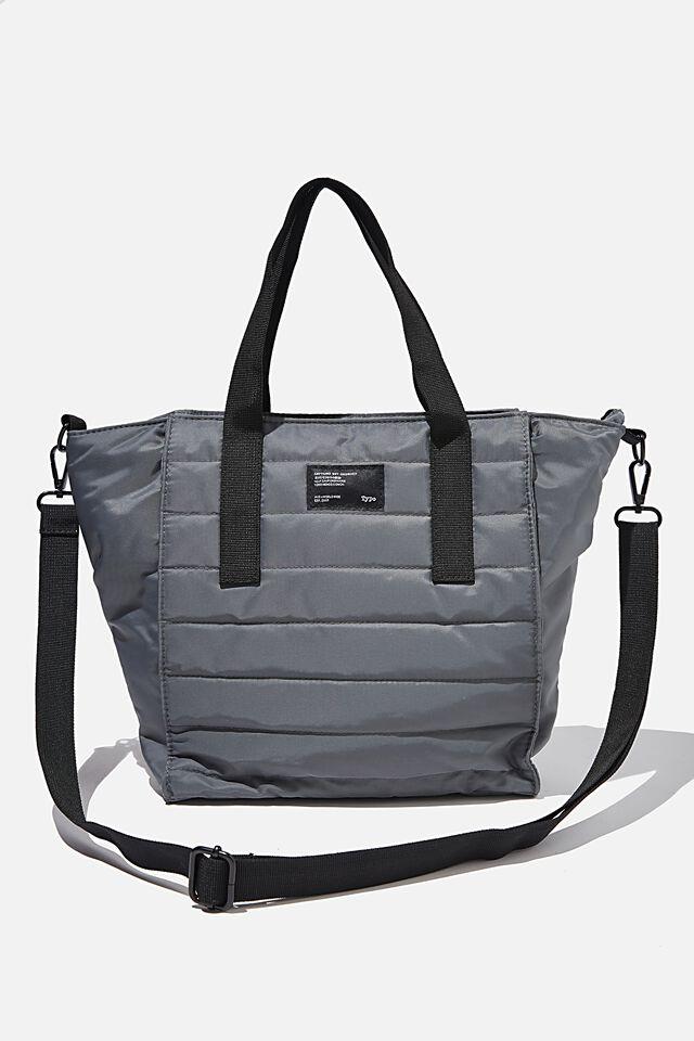 A5 Utility Book Tote Bag, WELSH SLATE AND KHAKI