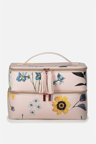St Tropez Beauty Case, FLORAL PRINT