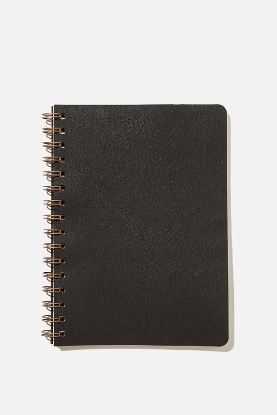 A5 Blank Daily Scribe Journal, JET BLACK