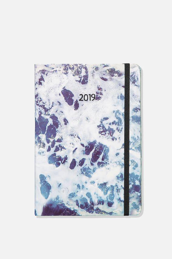 2019 A5 Daily Buffalo Diary, OCEAN FOAM