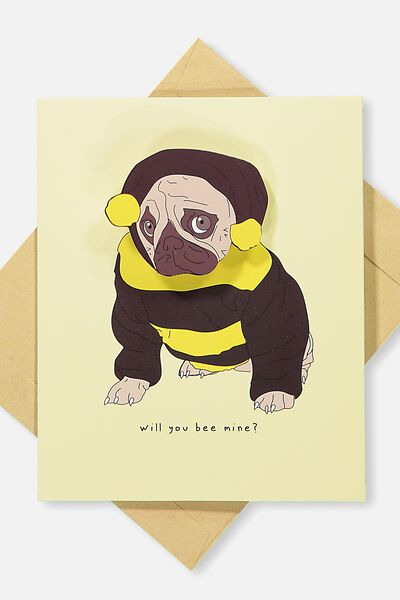 Premium Valentines Day Card 2018, BEE MINE