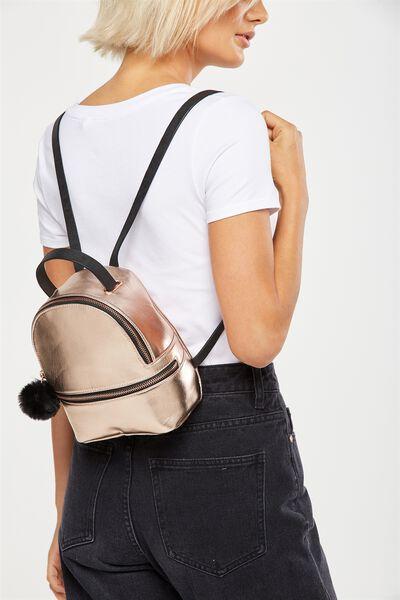 Mini Fashion Backpack, ROSE GOLD