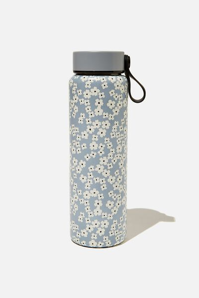 On The Move Metal Drink Bottle 500Ml, CHERRY BLOSSOM GREY