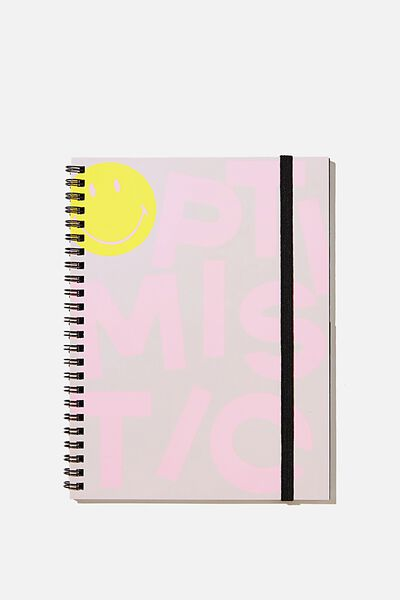 A5 Spinout Notebook Recycled, LCN SMI OPTIMISTIC PINK