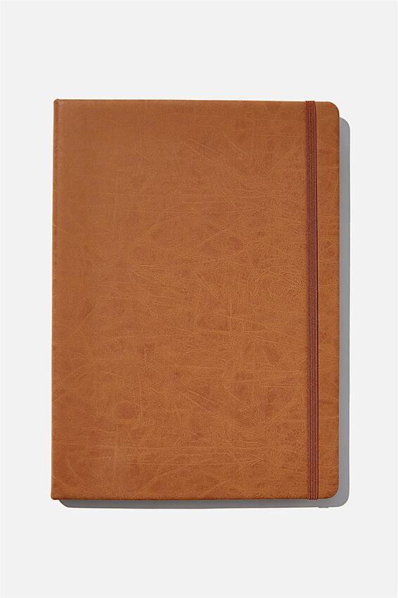 A4 Blank Buffalo Journal, MID TAN