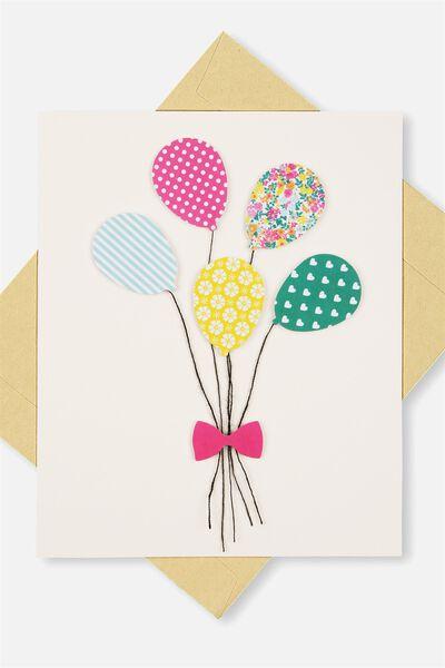 Embellishment Card, BL-BALLOONS