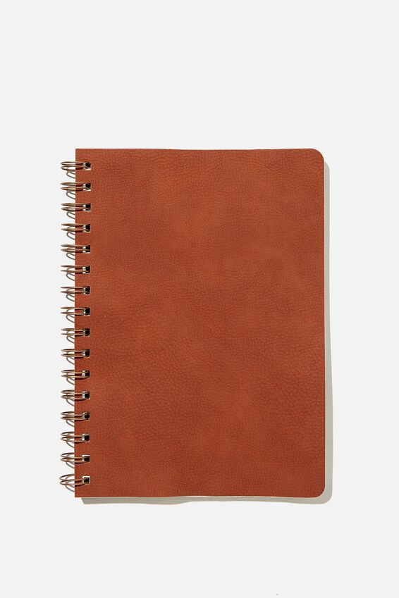 A5 Blank Daily Scribe Journal, RUSSET