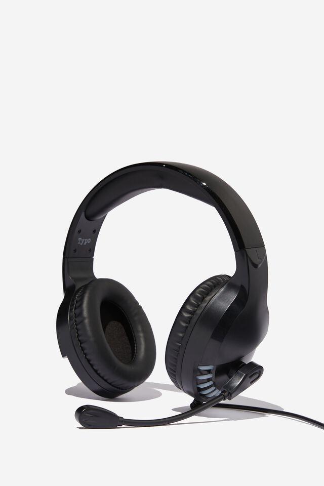 Mic Drop Led Headphone, BLACK