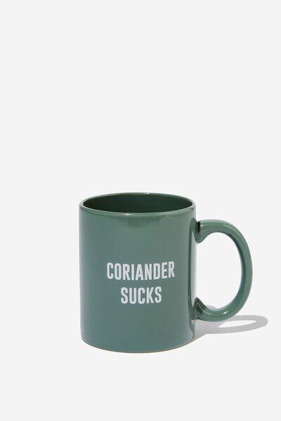 Anytime Mug, CORIANDER SUCKS GREEN