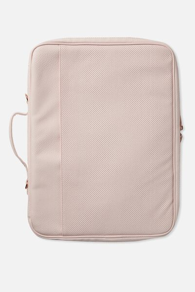 Mobile Laptop Folio 15 Inch, BLUSH PERFORATED