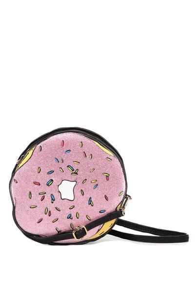 Novelty Cross Body Bag, GLITTER DONUT