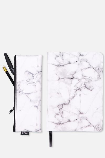 Notebook And Case Set, MARBLE