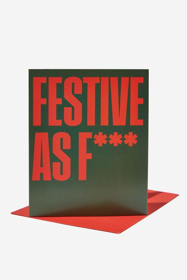 Christmas Card 2021, FESTIVE AS F*CK!!
