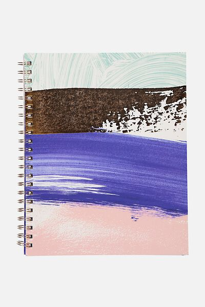 A4 Campus Notebook - 240 Pages, BRUSH STROKES