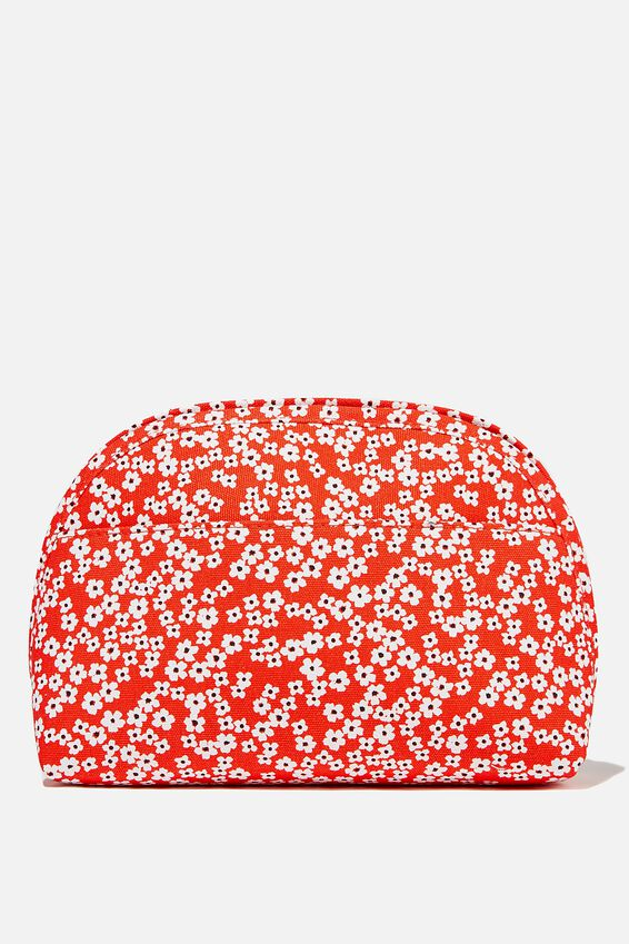 Canvas Essential Pouch, RG TRUE RED CHERRY BLOSSOM