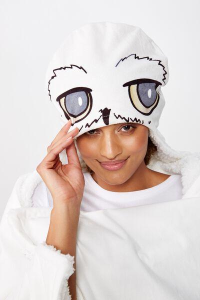 Novelty Hooded Blanket, LCN WB HP HEDWIG VELVET
