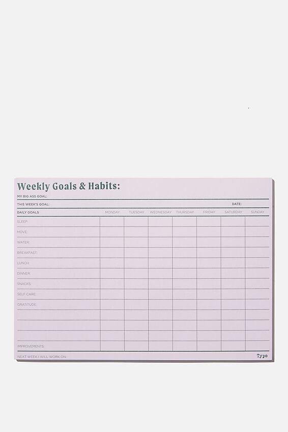 A5 Wellness Tracker, GOALS & HABITS
