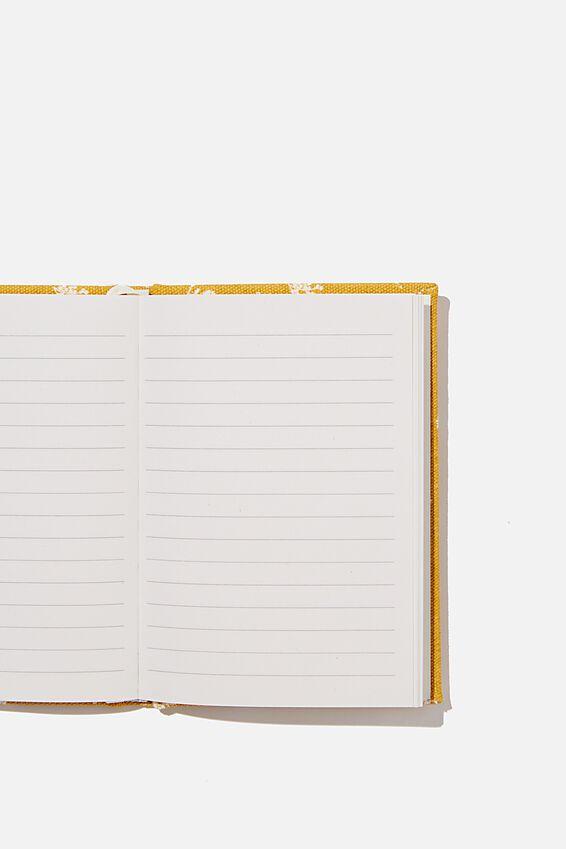 A6 Oxford Notebook, DOTTIE FLORAL MUSTARD