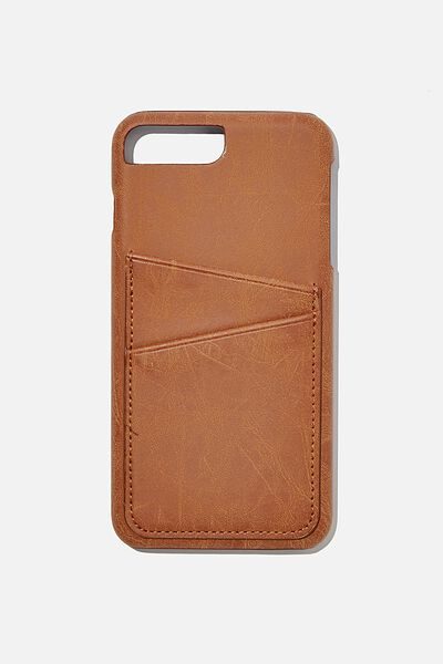 The Cardholder Phone Cover 6,7,8 Plus, MID TAN