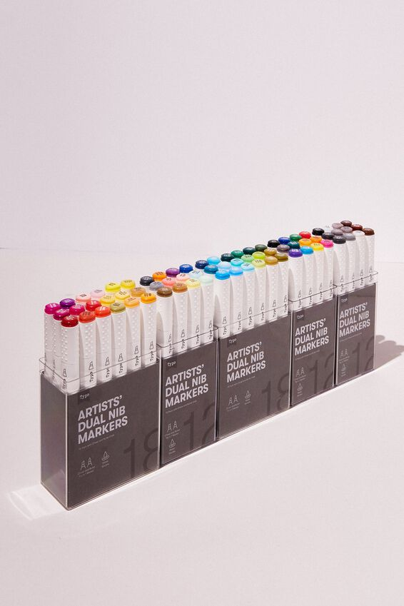 Artists Dual Nib Marker 12Pk, NEUTRAL