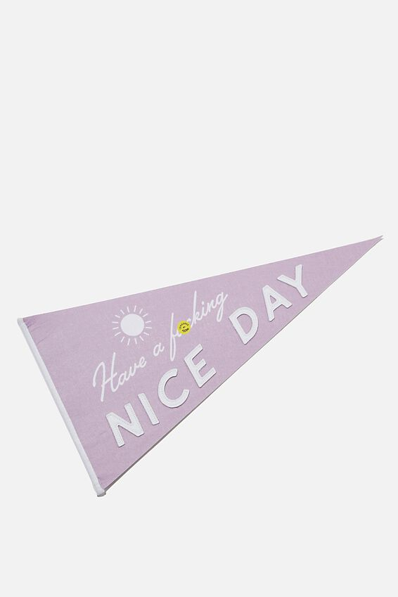 Pennant Wall Flag, NICE DAY!!