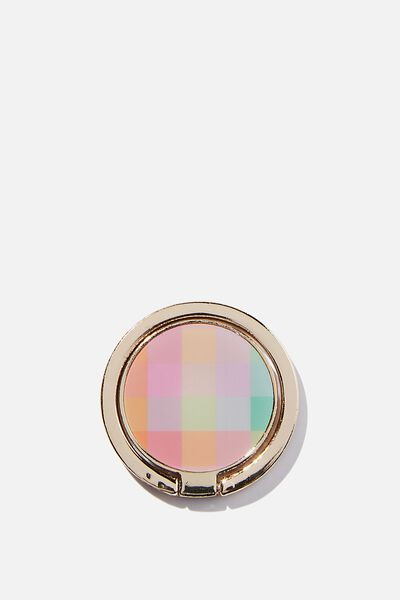 Metal Phone Ring, RAINBOW CHECK