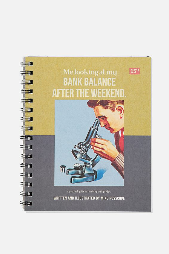 A5 Campus Notebook Recycled, BANK BALANCE