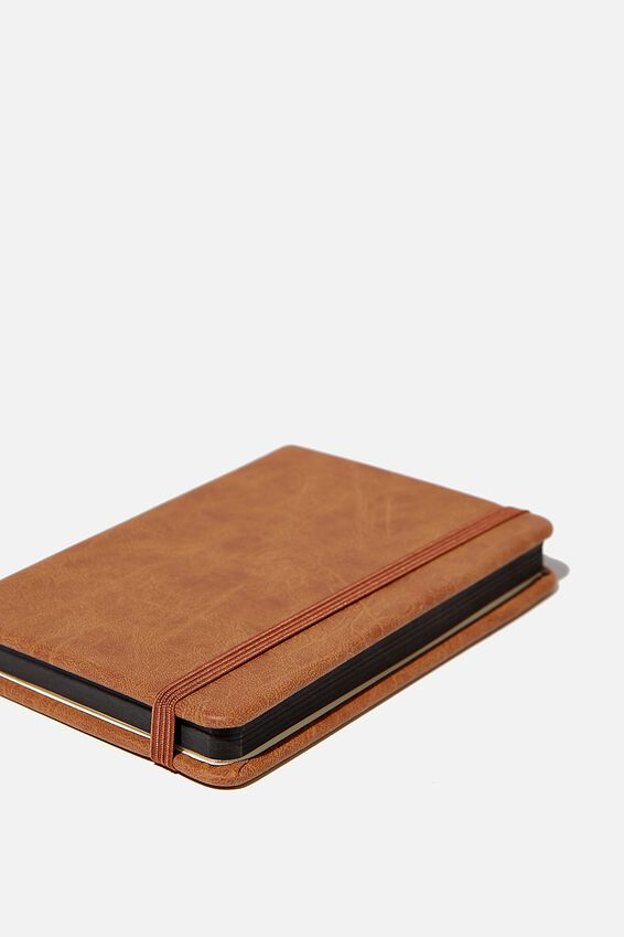 "A6 Buffalo Dot Journal (5.8"" x 4.1""), MID TAN"