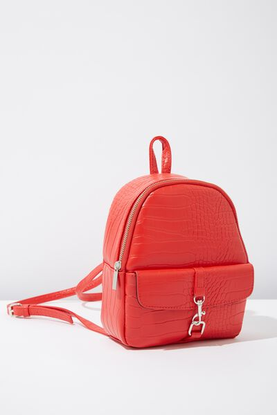 Mini Cairo Backpack, RED BUCKLE