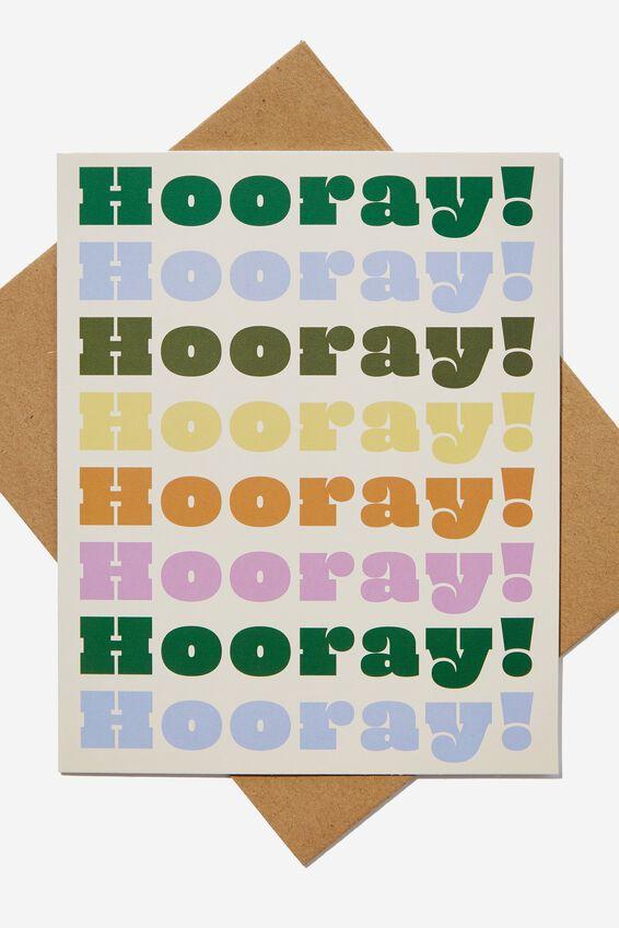 Nice Birthday Card, HOORAY MULTI REPEAT