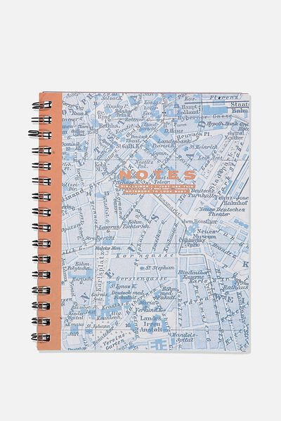 """A5 Campus Notebook-V (8.27"""" x 5.83""""), NOTE MAP"""