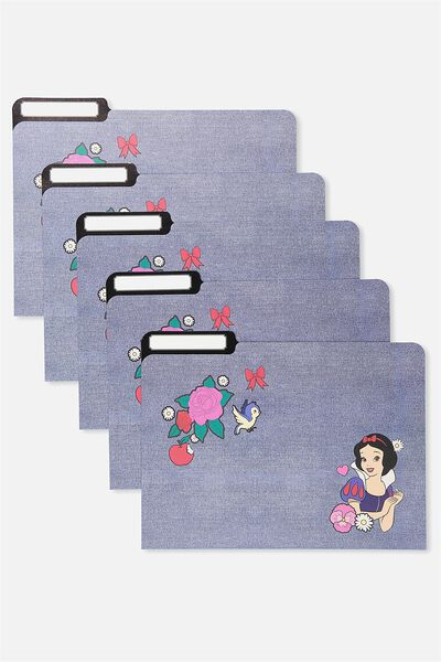 Manila Folders 5Pk, LCN SNOW WHITE PATCHES
