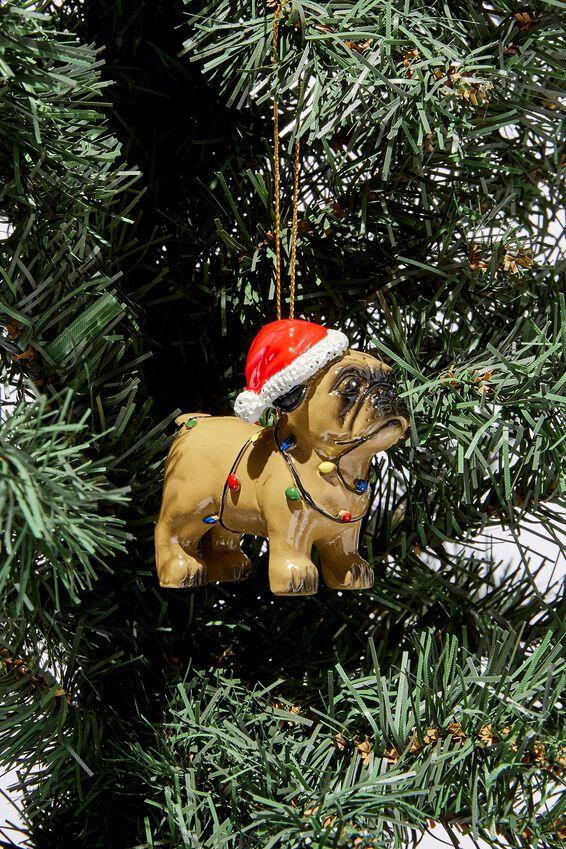 Christmas Ornament, PARTY PUG 3.0