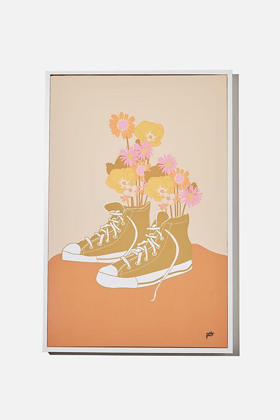 40 X 60 Canvas Art, FLORAL SNEAKER