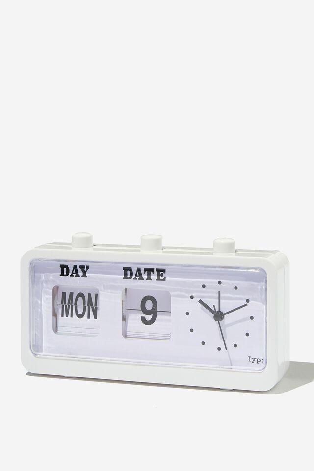 Retro Flip Clock, WHITE